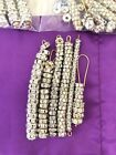 Lot 669 silver Plated  tone Glass rhinestone rondelle spacers beads Jewelry