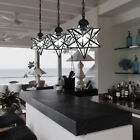 Moravian Star Frosted Glass Pendant Chandelier Light Modern Ceiling Lamp Fixture