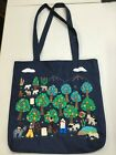 NWT THREADS OF HOPE Peruvian Hand Crafted Orchard Scene Denim Tote Bag 2 403 1