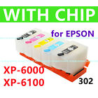Refill Ink Cartridge Compatible alternative for T302 302 XP6000 XP6100 w chip