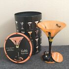 New In Box Lolita Martini Glass Wicked Witch 10oz Hand Painted NIB RETIRED