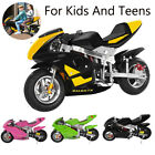 49cc 4Stroke Kids Dirt Bike 50Km h Mini Motorcycle Disc Front Brakes Pocket Bike