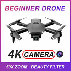 S68 Drone W Dual 4K Camera Wifi FPV RC Quadcopter Brushed Motor Toy f Kids Gift