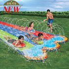 Banzai Triple Racer 16 Ft Water Slide With 3 bodyboards Included Ages 5 12 year