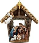 Holy Family Nativity Figurine Set Baby Jesus in Manger 925 Inches