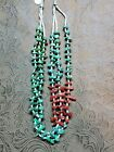 Vintage native american turquoise bead necklace