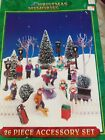 1995 Lemax Christmas Memories 24 Piece Village Accessories Set