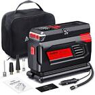 For AUDEW Electric Air Compressor Portable Car Tire Air Pump Inflator with Bag