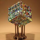 Fine Art Glass Sculpture by Jack Storms Original Chroma Cube Flawless