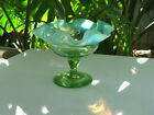 Small Antique Victorian Art Glass Compote Candy Dish Ruffled Rim Nice