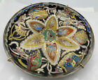 Signed Jose Cire Royo Enameled Glass Plate Dish 7