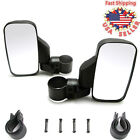 2Pcs Rearview Side Mirrors For 175 2 Roll Bar Cage Polaris RZR Ranger UTV ATV