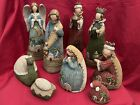 Dicksons Christmas Collection Resin 9 PC Knit Look Nativity Set 9 H