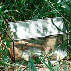 Large Handmade Geometric Glass Close Terrarium Box House Shape Swing Lid Latch