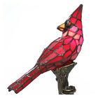 Small Table Lamp Tiffany Style Accent Red Cardinal Stained Glass Whimsical 135