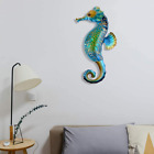 Metal Glass Seahorse Wall Decor Room Hang Deck Office Patio Yard Porch Fence Art