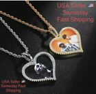 Heart Shape Custom Personalized Photo Picture Necklace With Chain Silver Or Gold