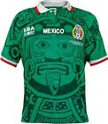 ABA Sport Mexico Jersey Authentic 1998 World Cup Soccer Polyester Long Sleeve