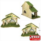 BANBERRY DESIGNS Wooden Nativity Stable Large Creche Measuring 8 1 2 Tall