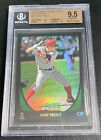 MIKE TROUT 2011 BOWMAN CHROME TRUE RC ROOKIE CARD REFRACTOR BGS 9.5 10 SUB 🔥