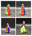 VINTAGE MURANO RUBY RED BLUE YELLOW SOMMERSO GLASS PENGUIN FIGURINE ORNAMENT