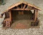 Wooden Christmas Large Nativity Manger Creche Stable