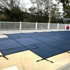 WaterWarden Inground Pool Safety Cover 18x36 Blue Center End Step SCMB1836CS