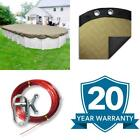 Premium 18 Ft X 33 Ft Oval Tan Solid Above Ground Winter Pool Cover