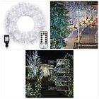 Ollny Outdoor Christmas String Lights 800 LED 330FT with Remote Waterproof Cool
