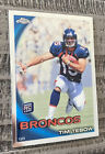 2010 Topps Chrome #C100 Tim Tebow RC Rookie Card Broncos