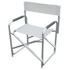 Playa aluminum director chair and white fabric chair for outdoor pool beach