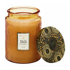 Voluspa Baltic Amber Large Embossed Glass Jar Candle 18 Ounces