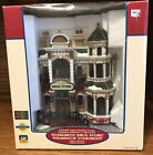 """LEMAX """"Evergreen Drug Store"""" Christmas Village Lighted Building Facades 2003"""