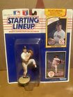 Vtg 1990 Starting Lineup Roger Clemens Red Sox Figure Rookie Year Collector Card