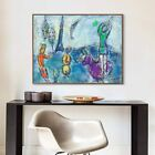 Framed Wall Art Tower and Human by Marc Chagall Living Room Home Decorations