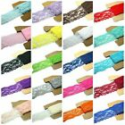 Lace Fabric Stretch Elastic JLIKA Brand 225 inches Wide Trim Lace for Headba