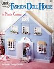 Fashion Doll House fits Barbie dolls plastic canvas pattern book NEW rare