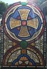ANTIQUE VINTAGE AMERICAN GOTHIC CHURCH ARCH STAINED GLASS WINDOW INTERIOR DECOR