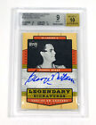 2003-04 Upper Deck Legends George Mikan #GM On Card Auto 10 Lakers BGS 9