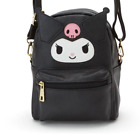 2 in 1 Cute Bunny Kuromi Leather Backpack  Shoulder Messenger Bag Hello Kitty