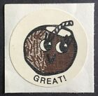 Vintage CTP MATTE Scratch  Sniff Stickers Coconut 1977 Strong Scent