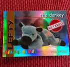 LEFTY (RED) Ty Beanie Baby/Babies Collector's Club Trading Card. Series 1, 1998
