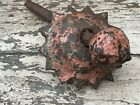 Antique Indian Cast Iron Large Metal Rose Heavy Domed Pin Nail Fixing Salvage 3