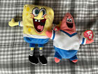 TY Beanie Bend It Like Spongebob And Patrick 20cm Plush Toys-Brand New With Tags