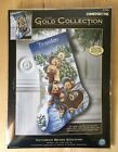 NIP Dimensions Gold Collection Victorian Bears Stocking Kit 8753 Cross Stitch