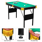 47inPool Table Billiard Table Toy Game Set w 2 Cue Triangle Rack Ball and Chalk