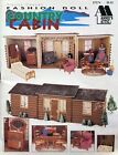 Fashion Doll Country Cabin Dollhouse  Furnishings plastic canvas pattern book