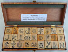 1978 Alphonyms by Robert Bloomberg All Night Media Stamp Set in Fitted Box NOS
