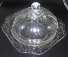 Federal Glass MADRID Pattern Covered Butter Cheese Dome DishDazzlingMint Cond