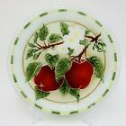 Peggy Karr APPLE BLOSSOMS 11 Round Plate Fused Glass RETIRED Excellent Signed